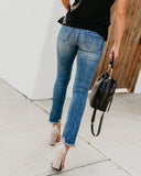 Zarina Distressed Frayed Skinnies