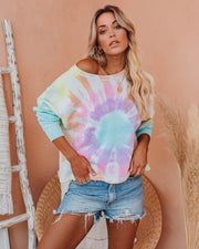 Zoom In Cotton Blend Tie Dye Pullover