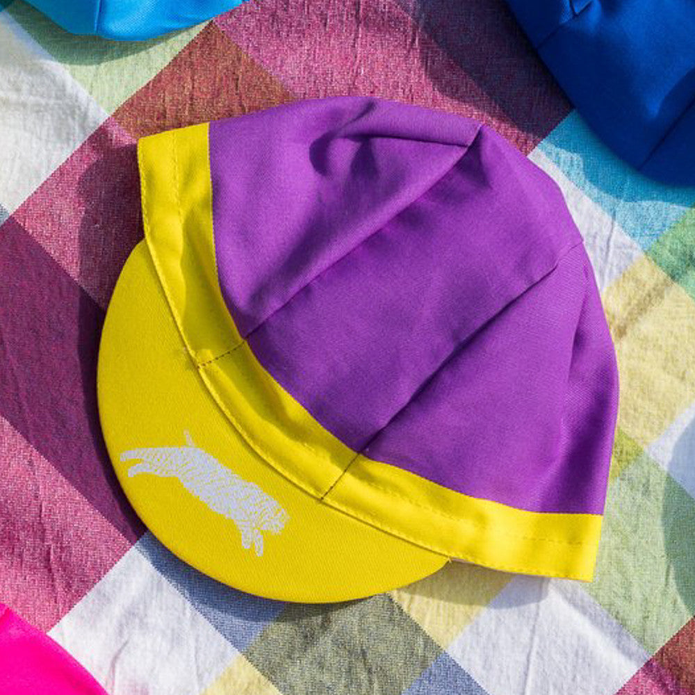 3 Panel FS Cap Purple / Yellow