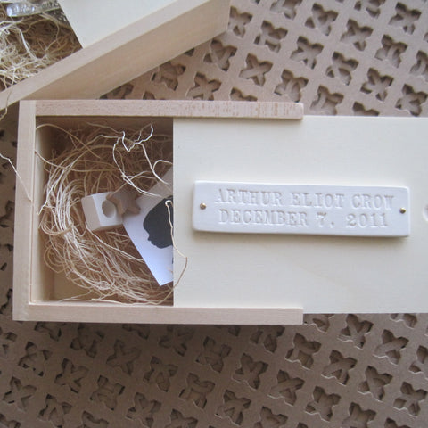 Wooden Keepsake Box for Baby Gift by Paloma's Nest