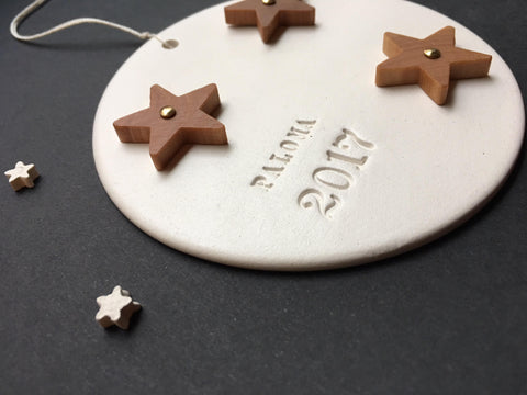 Custom Wooden Star Ornament by Paloma's Nest