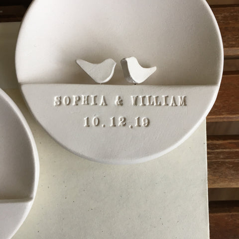 CUSTOM Love Dove Ornament with names or custom text