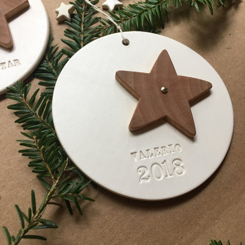 Custom Lucky Star Ornament with personalization