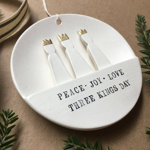 Three Kings Ornament with custom text of your choice