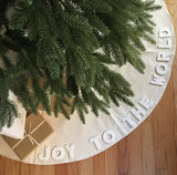 NEW Canvas and Flannel Tree Skirt JOY TO THE WORLD Limited Edition
