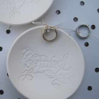 SYMBOL OF OUR LOVE calligraphy Ring Bearer Bowl