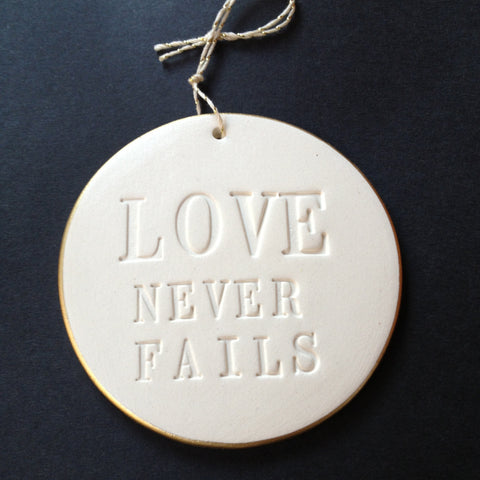 love never fails ornament by Paloma's Nest