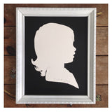 ceramic silhouette portrait by paloma's nest