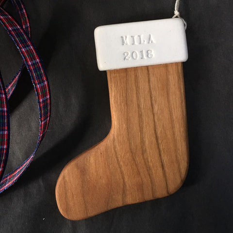 Custom Wooden Stocking Ornament