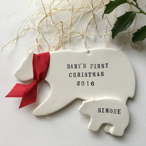Baby's First Christmas Ornament by Paloma's Nest