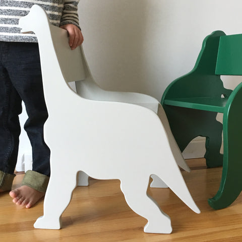 grey brontosaurus childs chair by palomas nest