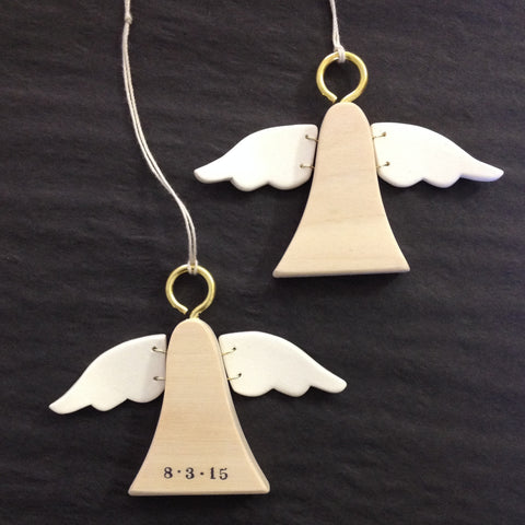 CUSTOM Angel Ornament with personalization