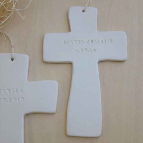 personalized cross for christening