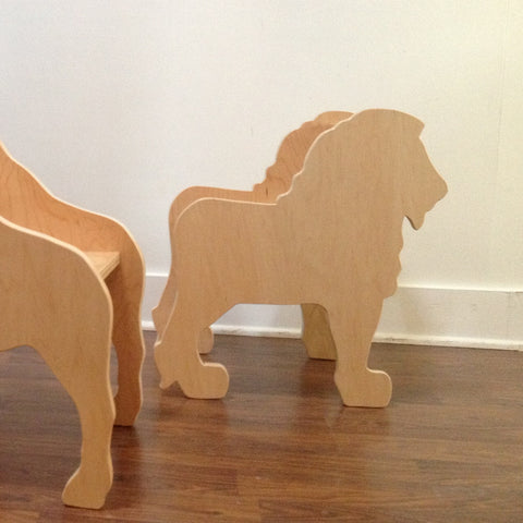 CHILD'S LION ANIMAL CHAIR- your choice of color