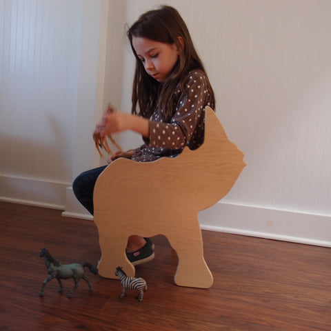 CHILD'S RHINO ANIMAL CHAIR- your choice of color