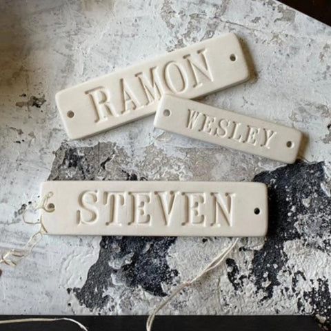 CUSTOM Personalized Name Tile in Ceramic  -for Stockings