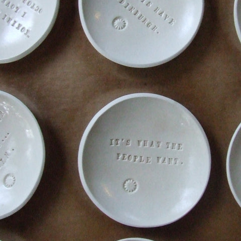 Special Pricing Set of 10 Custom Tiny Text Bowls