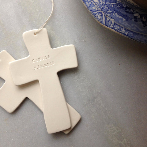 CUSTOM cross ornament