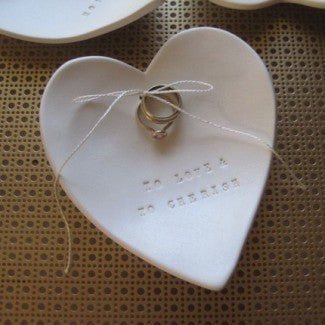 CUSTOM HEART-SHAPED Ring Bearer Bowl