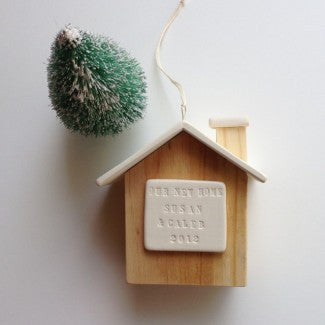 Custom Wooden House Ornament