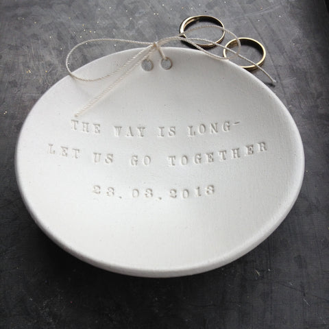 CUSTOM Ring Bearer Bowl with Personalized Text