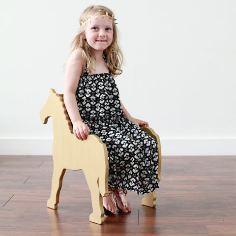 CHILD'S PONY CHAIR- your choice of color