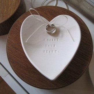 I CARRY YOUR HEART Ring Bearer Bowl