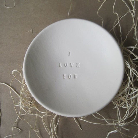 I love you ring dish by paloma's nest