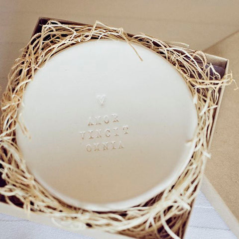 Love Conquers All ceramic ring dish by Paloma's Nest