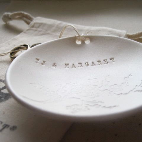 CUSTOM Blooming Branch Ring Bearer Bowl