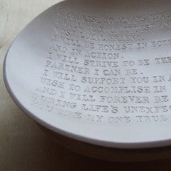 Custom Wedding Vow Bowl with Personalized Text
