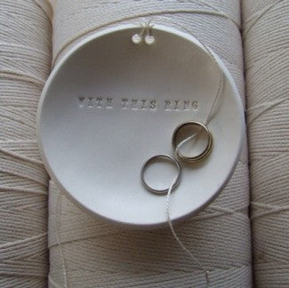 WITH THIS RING Ring Bearer Bowl
