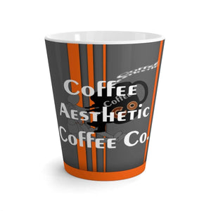 Coffee Aesthetic Coffee Co. Mug 12oz Coffee-Aesthetic.com Big Grey-Orange Latte mug