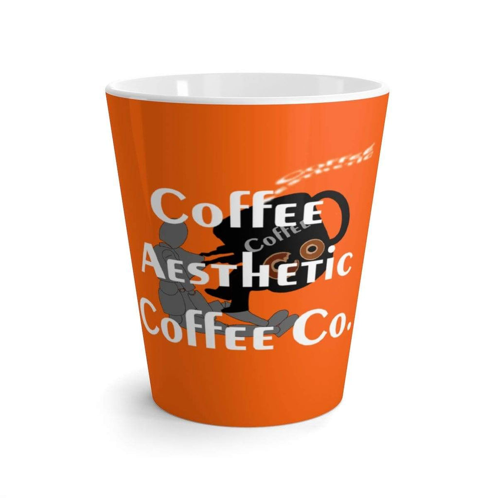 Coffee Aesthetic Coffee Co. Mug 12oz Coffee-Aesthetic.com Big Orange Latte mug