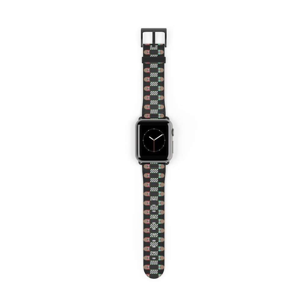 Plumskum Accessories 38 mm / Black Matte Skateboard Bandolier Apple Watch Band