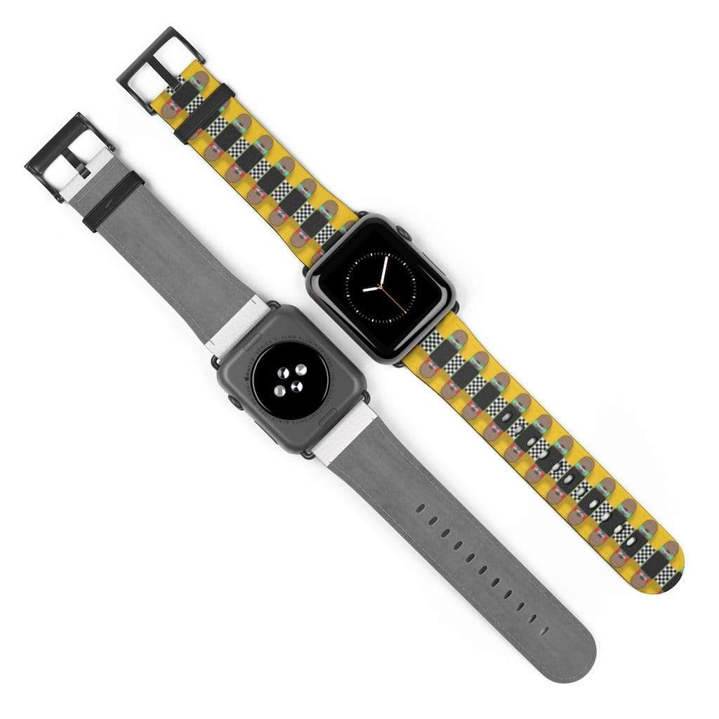 Plumskum Accessories 42 mm / Black Matte Skateboard Bandolier Apple Watch Band