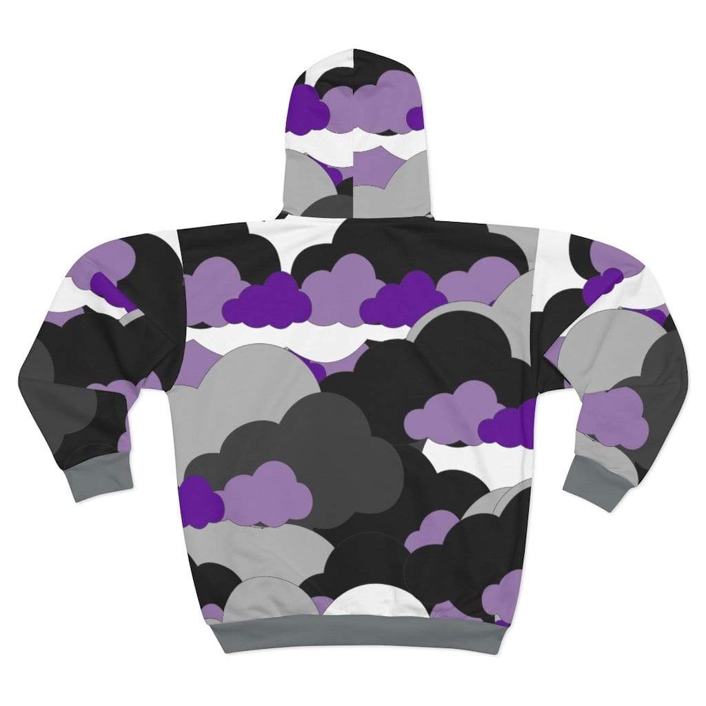 Plumskum All Over Prints L Plumskum Cloud Camo Cut Sew AOP Zip Hoodie