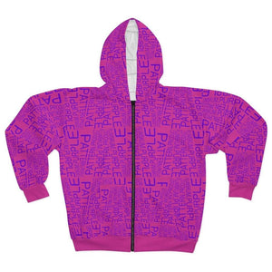 Plumskum All Over Prints L Plumskum | Purple | Pattern | Product | Pink Zip Hoodie
