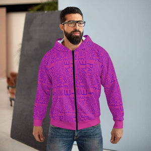 Plumskum All Over Prints Plumskum | Purple | Pattern | Product | Pink Zip Hoodie