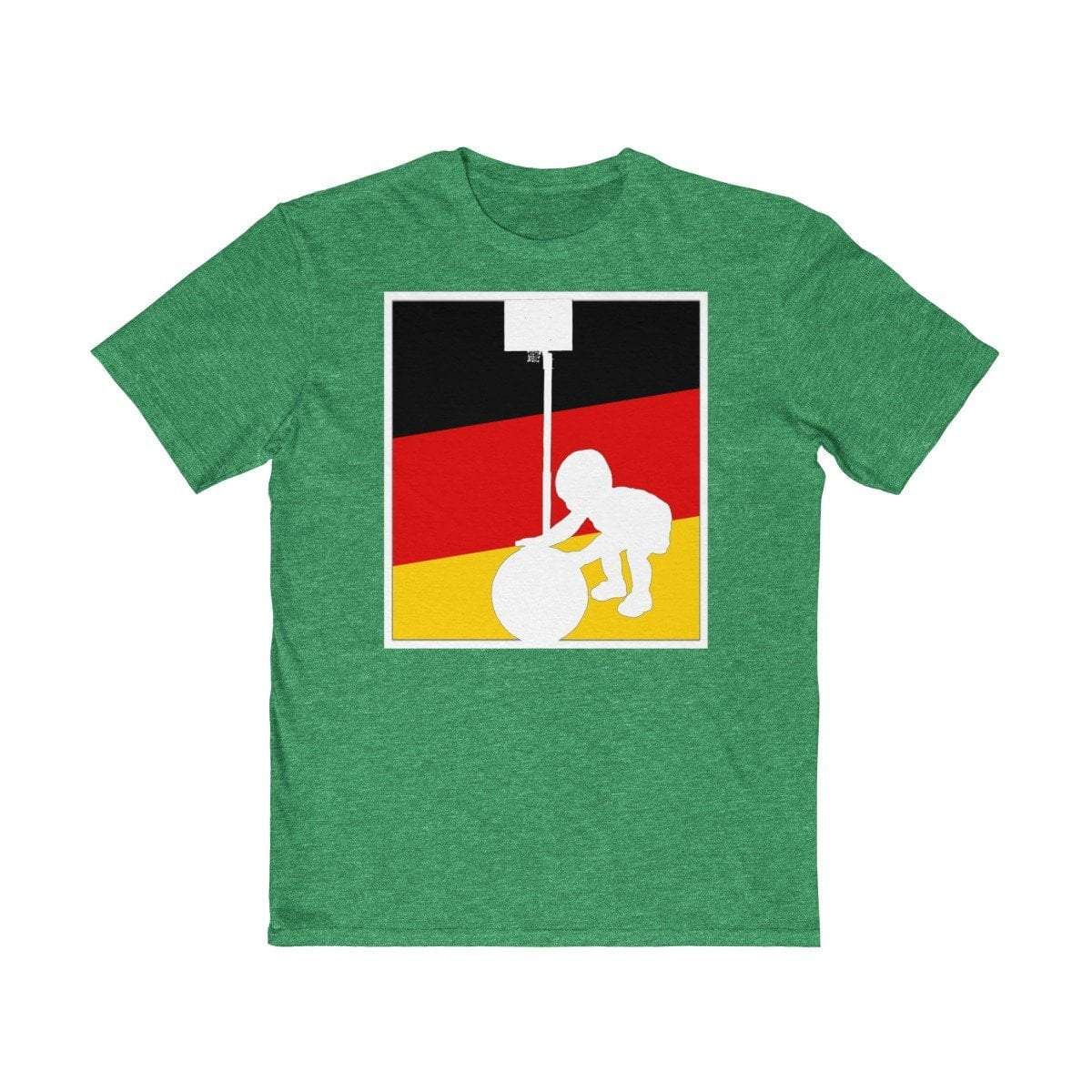 Plumskum Clothing > Men's Clothing > Shirts & Tees > T-shirts XS / Classic Red Baller In Training Germany Basketball Logo Inspired Basketball TShirt
