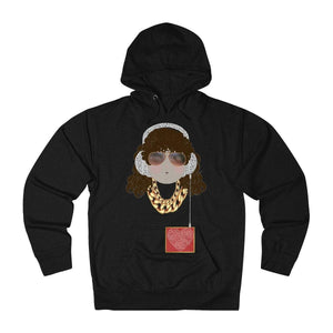 Plumskum Clothing > Unisex Adult Clothing > Hoodies & Sweatshirts > Hoodies Charcoal Heather / XS Chele My Belle Loves Music Colorful Terry Hoodie