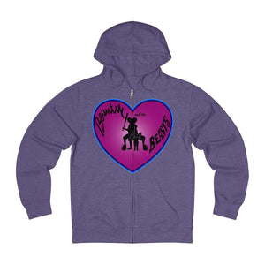 Plumskum Hoodie Purple Heather / XS Sports Mother of Twins + French Terry Zip Hoodie