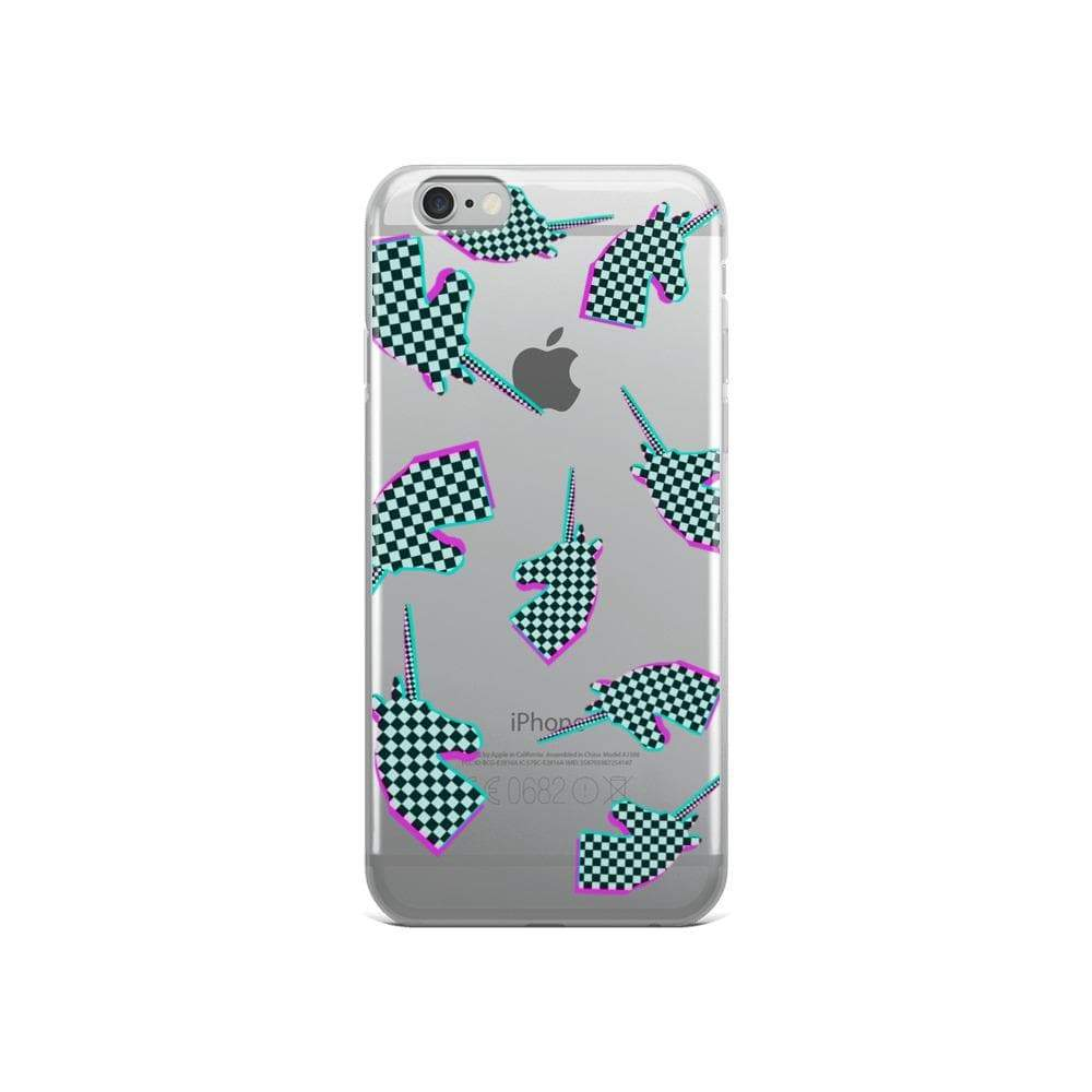 Plumskum iPhone 6/6s Glitchy Checker Unicorn iPhone Case