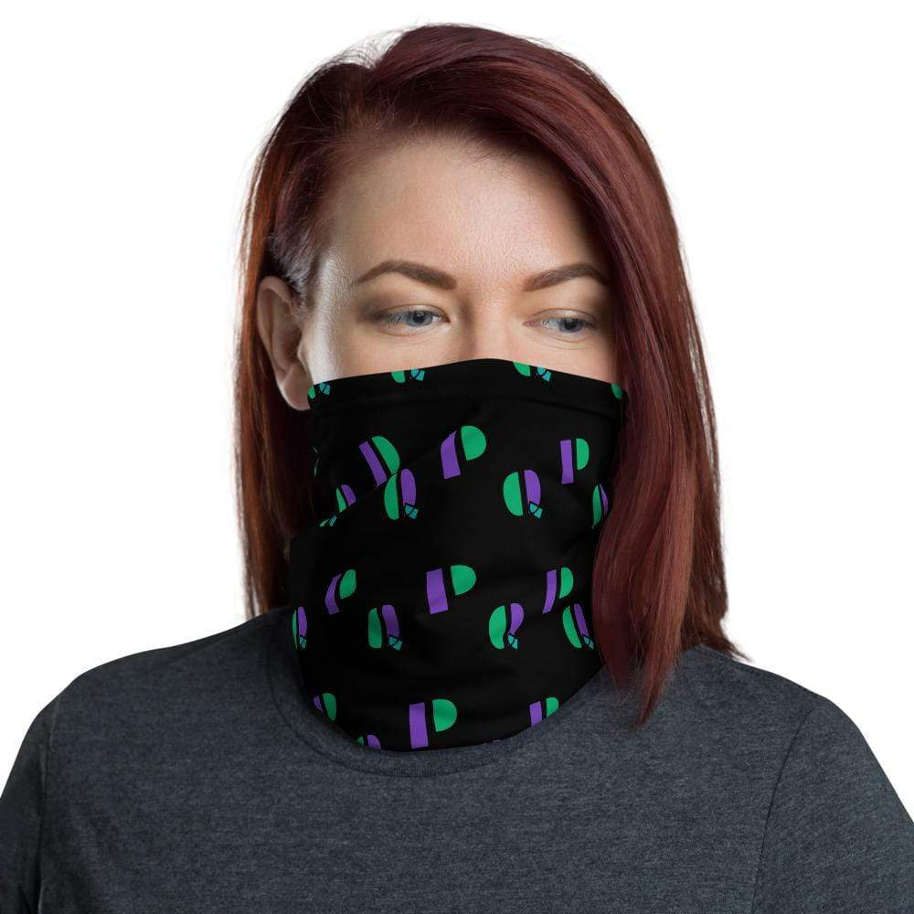 Plumskum P's & Q's Protective Face Mask|Neck gaiter|Headband Black