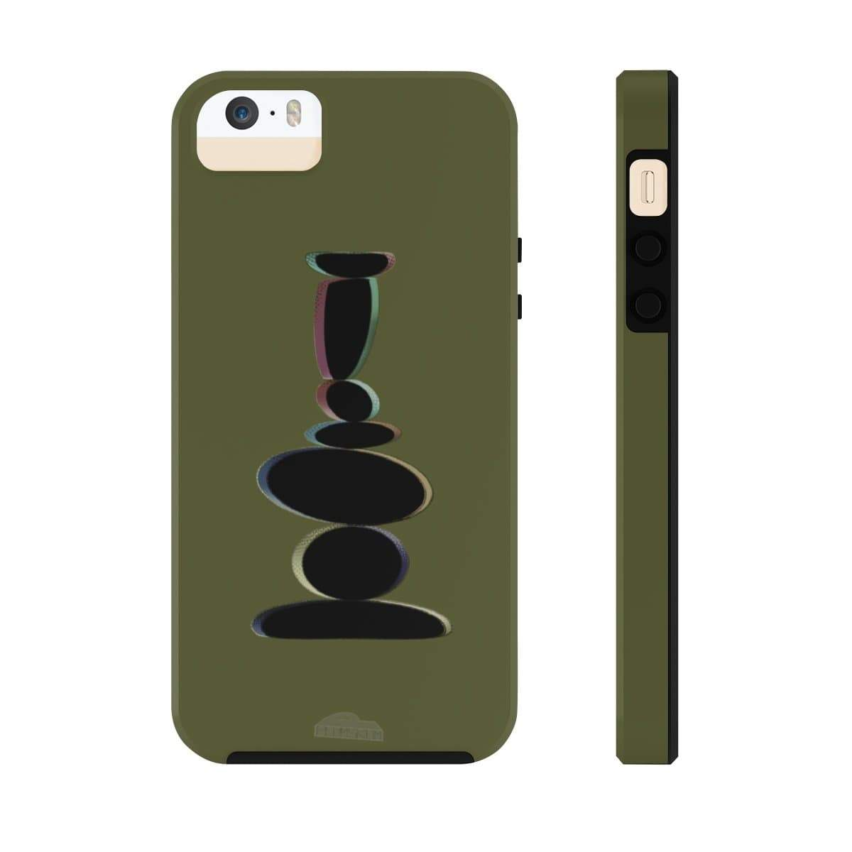 Plumskum Phone Case iPhone 5/5s/5se Tough Plumskum Zen Balanced Stones Artwork Phone Case