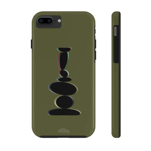 Plumskum Phone Case iPhone 7, iPhone 8 Tough Plumskum Zen Balanced Stones Artwork Phone Case