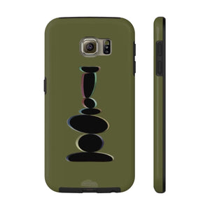 Plumskum Phone Case Samsung Galaxy S6 Tough Plumskum Zen Balanced Stones Artwork Phone Case