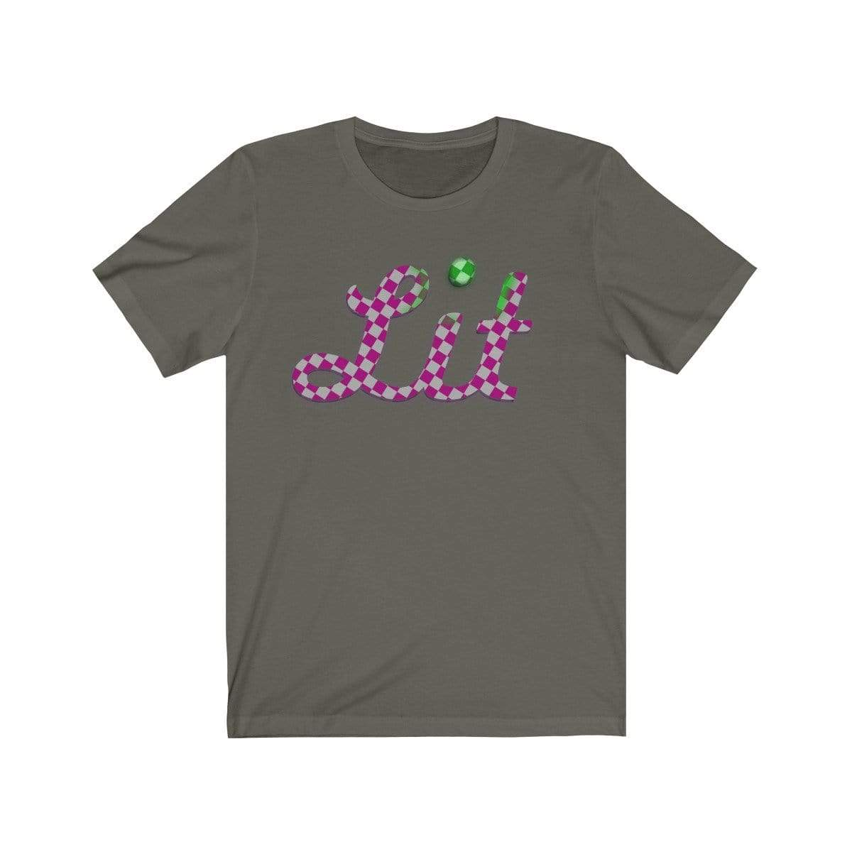 Plumskum T-Shirt Army / L Pink Checkered Lit T-shirt