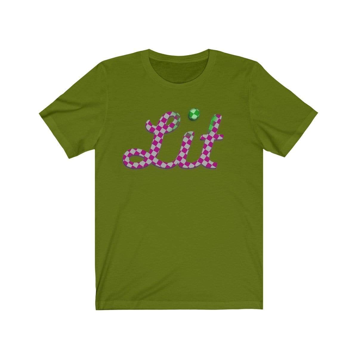 Plumskum T-Shirt Leaf / S Pink Checkered Lit T-shirt
