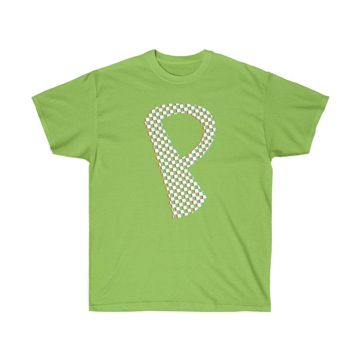 Plumskum T-Shirt Lime / S Checkered, Glitchy, Capital P T-Shirt